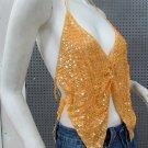Sexy Halter Top ; woman hippie top; fashionable crochet sequin beaded dancing belly bar top#20
