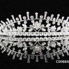 Crystal and Rhinestone Bridal Tiara Stunningly Beautiful Silver Wedding Bridal Tiara #684S