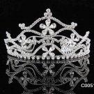 Crystal and Rhinestone Bridal Tiara Stunningly Beautiful Silver Wedding Bridal Tiara #513s
