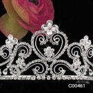 Crystal and Rhinestone Bridal Tiara Stunningly Beautiful Silver Wedding Bridal Tiara #461
