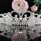 Crystal Rhinestone Bridal Tiara ;Sparkle Beautiful Silver Wedding Tiara; Bride Regal#790