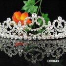 Crystal Rhinestone Bridal Tiara ;Sparkle Beautiful Silver Wedding Tiara; Bride Regal#843