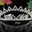 Vintage Crystal Rhinestone Bridal Tiara ;Sparkle Beautiful Silver Wedding Tiara; Bride Regal#881
