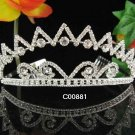 Elegance Crystal Rhinestone Bridal Tiara ;Sparkle Beautiful Silver Wedding Tiara; Bride Regal#881