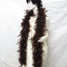 50g Turkey Feather Fringe ;Coque Rooster fuzzy Marabou feather boa #f50br