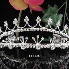 Sparkle Beautiful Silver Wedding Tiara;Elegance Crystal Rhinestone Bridal Tiara ; Bride Regal#946