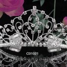 Sparkle Beautiful Silver Wedding Tiara;Elegance Crystal Rhinestone Bridal Tiara ; Bride Regal#1021