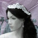 Floral Lace Wedding Headpiece;Ivory Floral Bridal Tiara ; Bride Headpiec#21