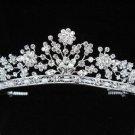 Silver Wedding Tiara;Sparkle Beautiful Elegance Crystal Rhinestone Bridal Tiara ; Bride Regal##145