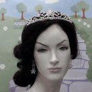Wedding Headpiece ;Crystal Bugle Rhinestone Floral Bridal Tiara ;Wedding Veil headband#3050