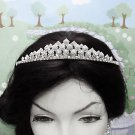 Crystal Bugle Wedding Headpiece ;Fancy Rhinestone Bridal Tiara ;Wedding Veil headband#7274