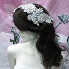 Floral Lace Wedding Headpiece;Ivory Floral Bridal Tiara ; Bride Headpiec#15