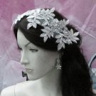 Floral Lace Wedding Headpiece;Ivory Floral Bridal Tiara ; Bride Headpiec#14