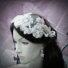 Floral Lace Wedding Headpiece;Ivory Floral Bridal Tiara ; Bride Headpiece#10