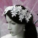 Floral Lace Wedding Headpiece;Ivory Floral Bridal Tiara ; Bride Headpiece#9