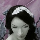 French Lace Wedding Headpiece;Ivory Floral Bridal Tiara ; Bride Headpiece#3