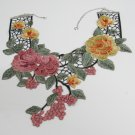 Fashion French Lace Wedding Necklace;Floral Bridal Accessories;Bride Jewelry Embroidery necklace #9