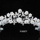 Elegance Peacock Crystal Bridal Tiara ; Silver Rhinestone Wedding Headpiece;Floral bride tiara#377