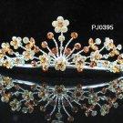 Elegance Sparkle Crystal Bridal Tiara ; Silver Rhinestone Wedding Headpiece;Floral bride tiara#395