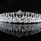 Elegance Sparkle Crystal Bridal Tiara ; Silver Rhinestone Wedding Headpiece;Dangle bride tiara#459