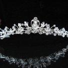 Sweetheart Teardrop Crystal Bridal Tiara;Silver Rhinestone Alloy Wedding Headpiece;bride tiaras#571