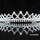 Crystal Bugle Bridal Tiara;Silver Rhinestone vintage Wedding Headpiece;bride Hair accessories#2005