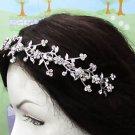 Bridal Tiara;Silver alloy Rhinestone Floral Serpent Wedding Headband;bride Hair accessories#2016