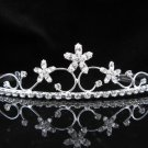Elegance Floral Bridal Tiara;Silver Rhinestone Wedding Headpiece;bride Hair accessories #2358
