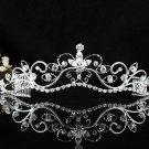 Bridal Tiara;Silver Rhinestone Wedding Headband;Sweetheart Headpiece;bride Hair accessories #11w