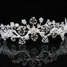 Bridal Tiara;Silver Rhinestone Wedding Headband;Fancy Alloy Headpiece;bride Hair accessories #1321