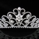 Bridal Tiara;Silver Rhinestone Wedding Headband;Fancy Huge Headpiece;bride Hair accessories #1329