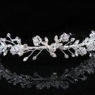 Bridal Tiara;Silver Rhinestone Wedding Headband;Fancy Daisy Headpiece;bride Hair accessories #1332