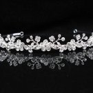 Bridal Tiara;Silver Rhinestone Wedding Headband;Fancy Daisy Headpiece;bride Hair accessories #1335