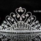 Bridal Tiara;Silver Rhinestone Wedding Headband;Fancy Huge Headpiece;bride Hair accessories #1352