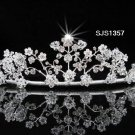 Bridal Tiara;Silver Rhinestone Wedding Headband;Fancy Huge Headpiece;bride Hair accessories #1357