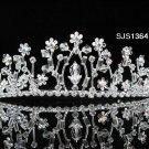 Bridal Tiara;Silver Rhinestone Wedding Headband;Fancy Huge Headpiece;bride Hair accessories #1364