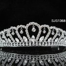 Bridal Tiara;Silver Rhinestone Wedding Headband;Fancy Huge Headpiece;bride Hair accessories #1368