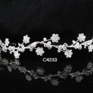 Bridal Tiara;Silver Rhinestone Wedding Floral Headband;Fancy Headpiece;bride Hair accessories#4233