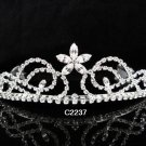 Bridal Tiara;Silver Rhinestone Wedding Floral Headband;Fancy Headpiece;bride Hair accessories#2237