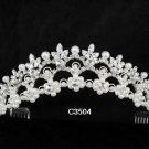 Bridal Tiara;Silver Rhinestone Bride Wedding Headpiece ;Fancy Headpiece;bride Hair accessories#3504