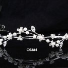 Bridal Tiara;Silver Pearl Rhinestone Wedding Headpiece ;Fancy Headpiece;bride Hair accessories#5384
