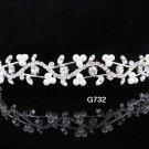 Bridal Tiara;Silver Pearl Rhinestone Wedding Headpiece ;Fancy Headband;bride Hair accessories#732