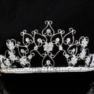 Bridal Tiara;Silver Rhinestone Wedding Headband;Fancy Huge Headpiece;bride Hair accessories#10087
