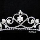 Bridal Tiara;Silver Pearl Rhinestone Sweetheart Wedding Headpiece;bride Hair accessories#780