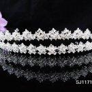 Bridal Tiara;Silver Rhinestone Alloy Twin Wedding Headpiece;bride Hair accessories#1171