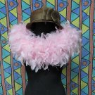 50gFeather Fringe Shawl;Coque Rooster fluffy stole; thick Marabou feather boa wrap#1p