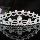 Floral Daisy Bridal Tiara;Silver Rhinestone Wedding Headband ;bride Hair accessories#1336