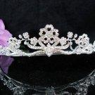 Floral Bridal Tiara;Silver Alloy Rhinestone Wedding Headband ;bride Hair accessories#1343