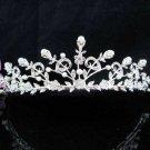 Floral Bridal Tiara;Silver Alloy Rhinestone Wedding Headband ;bride Hair accessories#1344