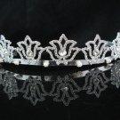 Elegance Bridal Tiara;Silver Crystal Rhinestone Wedding Headband ;bride Hair accessories#1365
